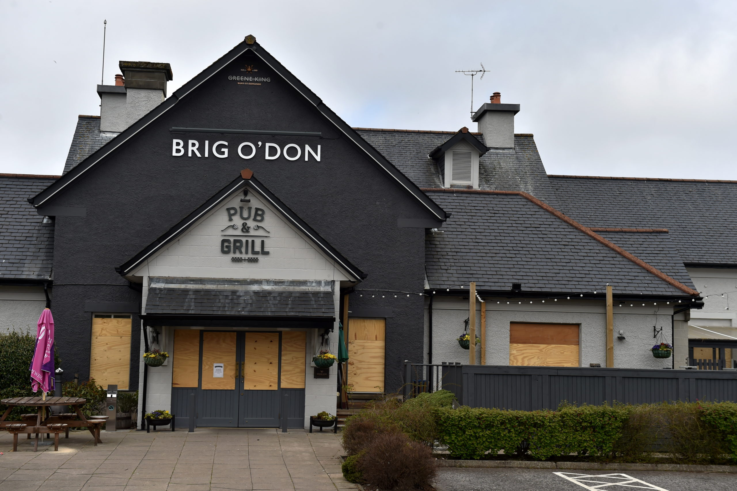 The Brig o' Don bar was broken into yesterday