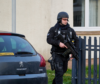 Armed police in Elgin on Wednesday night