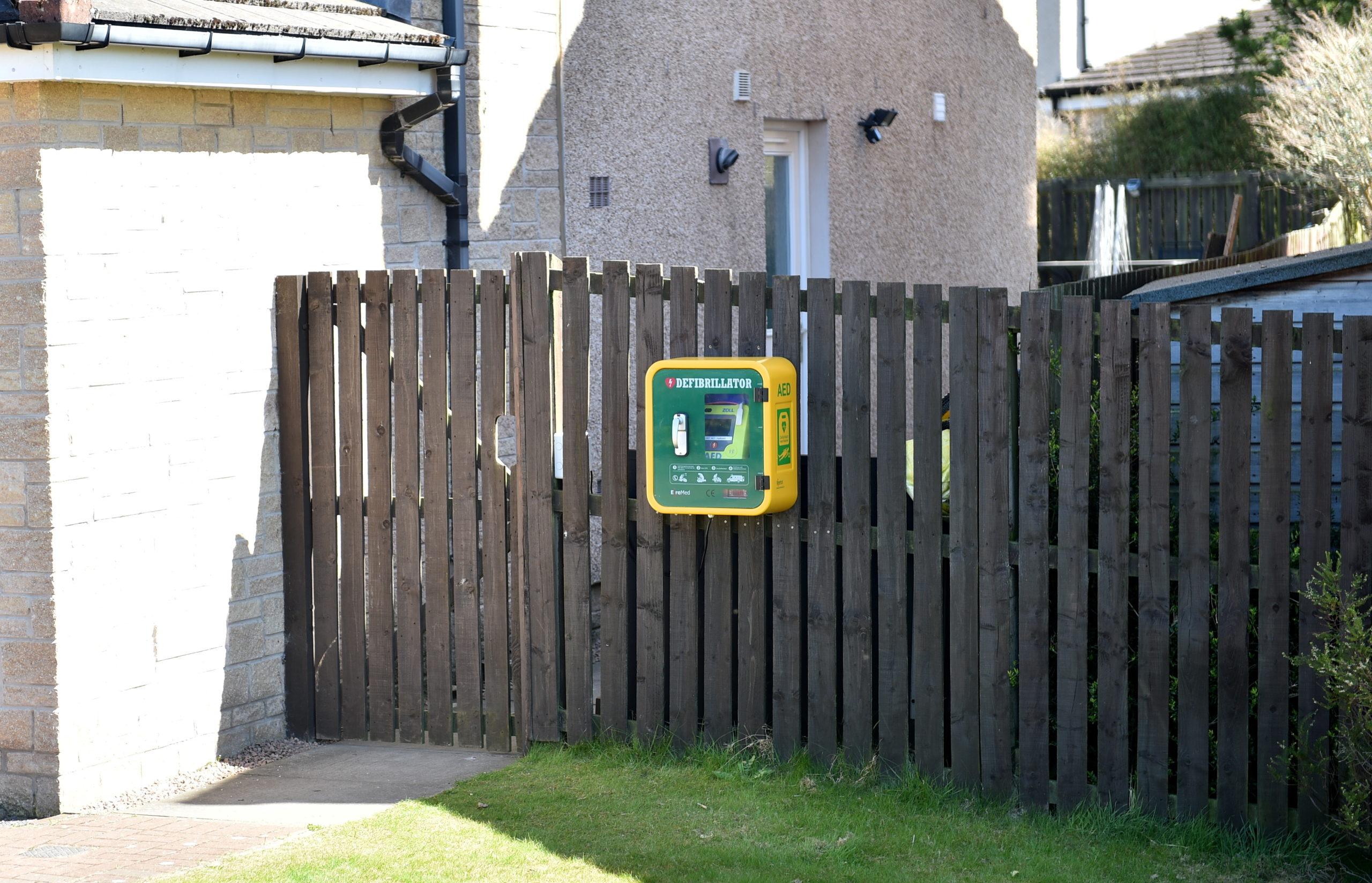 The new defibrillator in Kintore