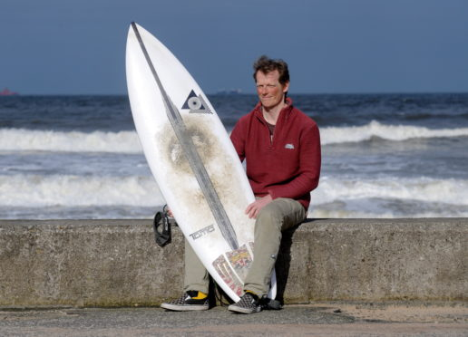 Dougie Taylor was fined after surfing near his home