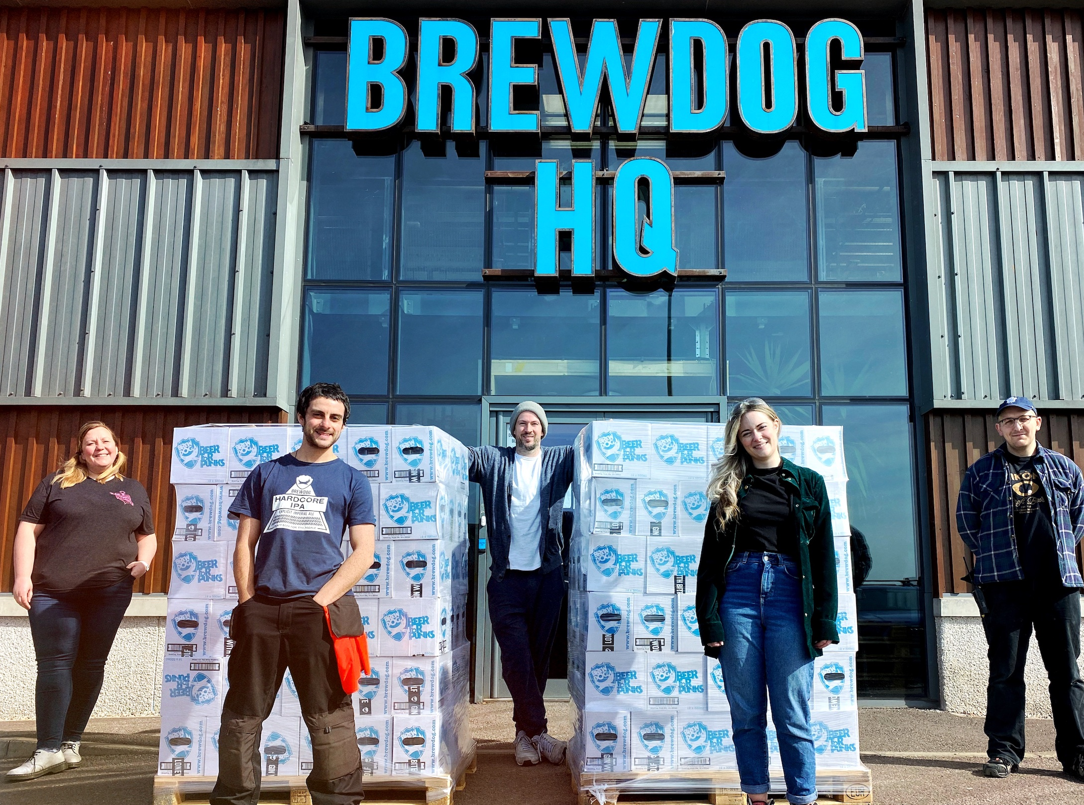 BrewDog has handed out more than 110,000 bottles of hand sanitiser