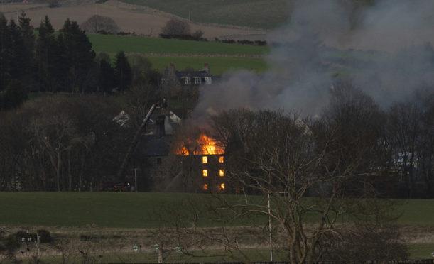 The blaze in Montgarrie.