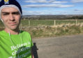 Jamie Rendall is running 10km a day for Barnardo's Scotland