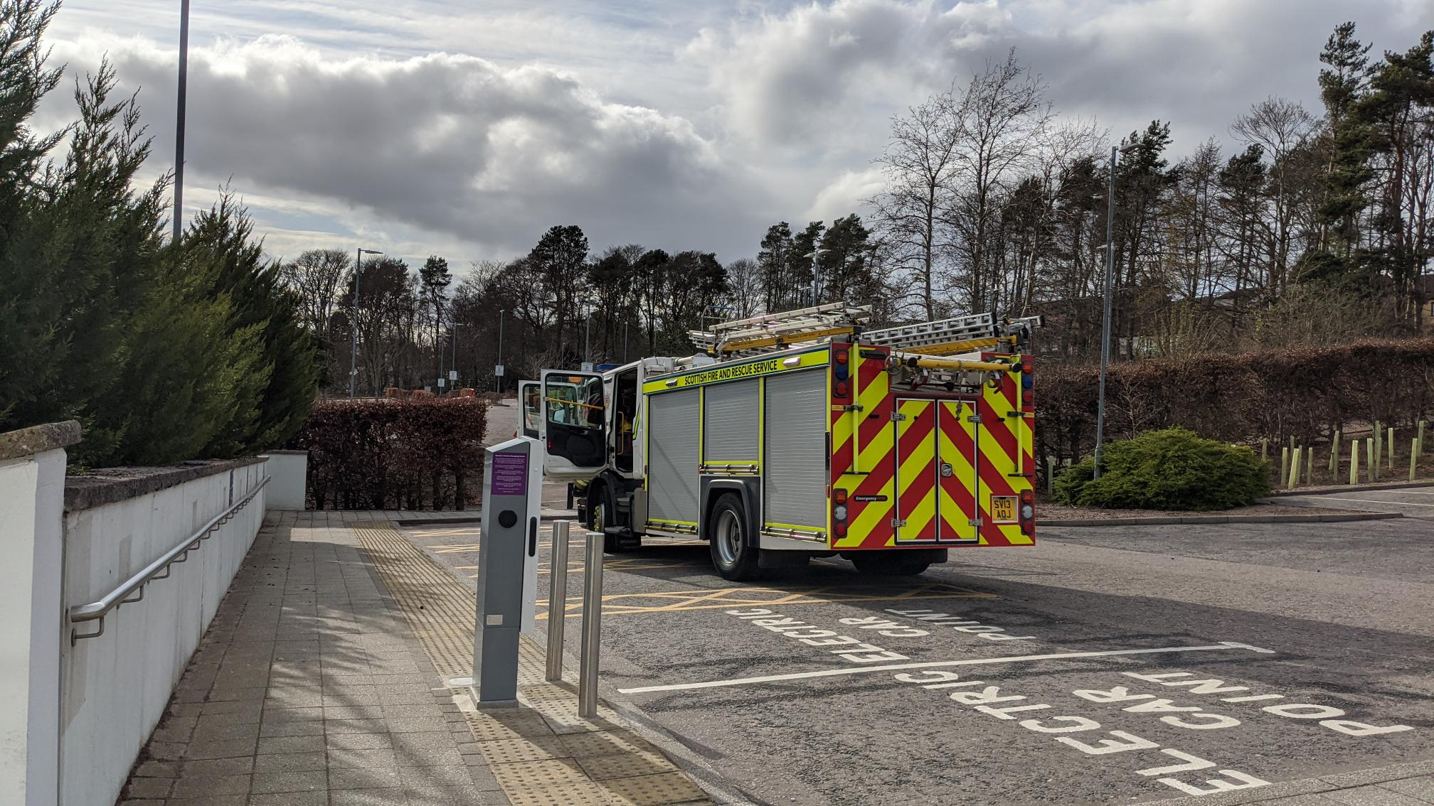 Fire crews were called to the RGU campus in Garthdee this afternoon.