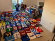 Neil Anderson and his collection of Italian football shirts.