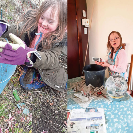 Julie-Ann Henderson has been teaching her nine-year-old daughter Olivia to be green-fingered