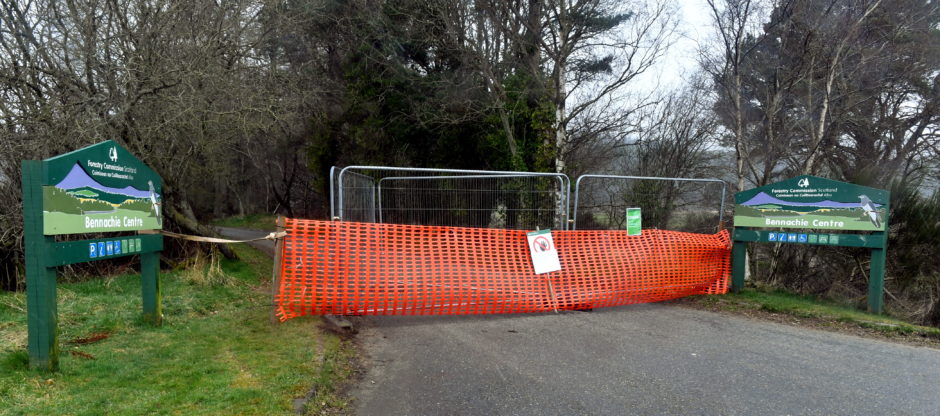 The entrance to Bennachie has been blocked