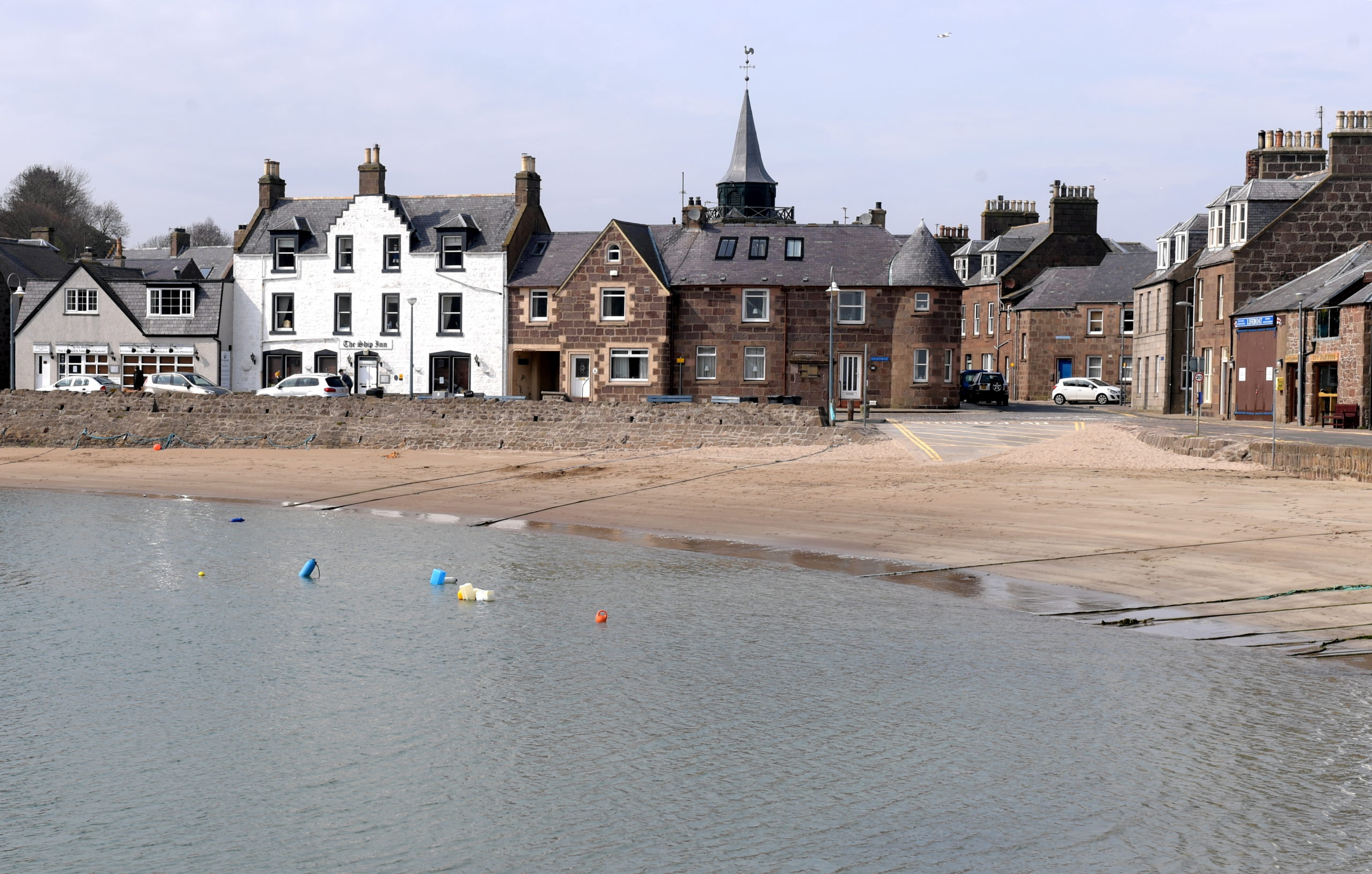 The Coastguard was called out to reports of people tombstoning from the harbour