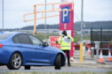The testing site at Aberdeen airport has now opened