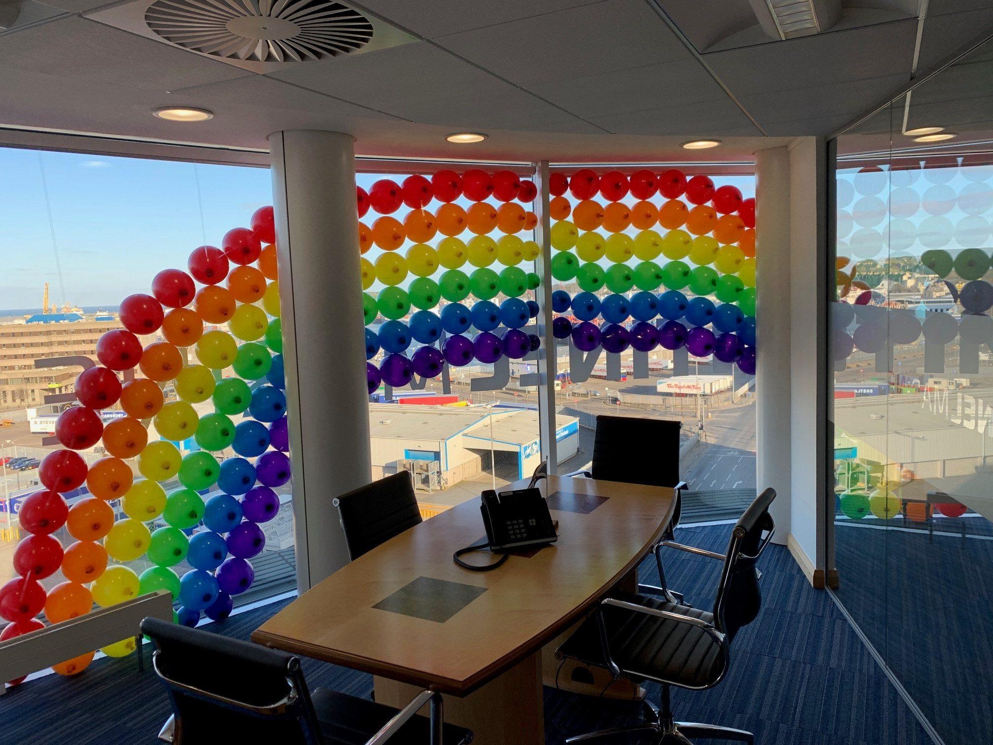 The rainbow art