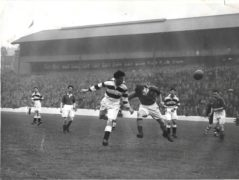 Billy Stephen scoring the equaliser for the Bankies.