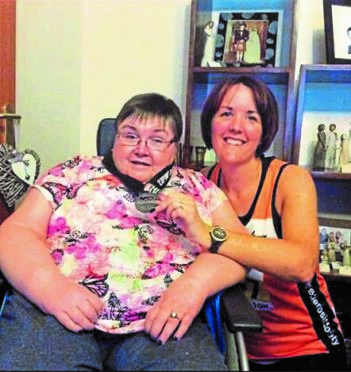 Kathleen Robertson and daughter Lesley Marshall