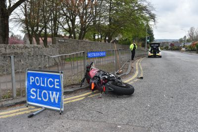 Westburn Drive was shut following a collision