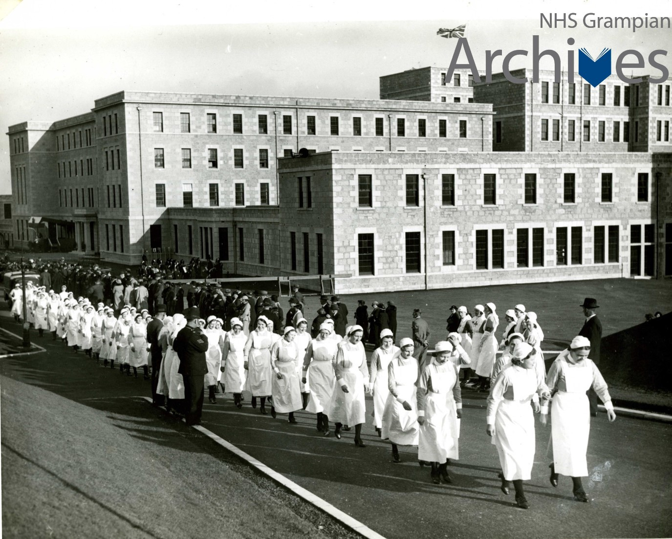 Nurses take part in the 1936 opening ceremony