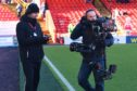 TV cameras at Pittodrie.
