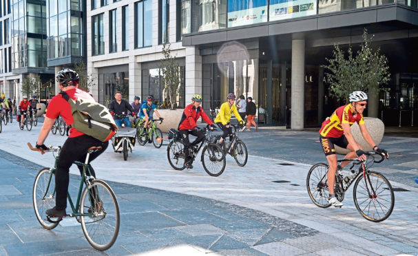 Aberdeenshire Council and Aberdeen City Council are encouraging residents to continue cycling and walking