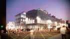 Union Street Night  Aberdeen market building transformation Final plans for the transformation of the Aberdeen market building and surrounding area will go before Councillors on 30th of April with a recommendation to approve from Aberdeen City Council planners.  Images released today by the developer, PATRIZIA, show how the area will be transformed to provide a new pedestrian area and green civic space for public art installations and outdoor events, including markets and performances. The design reveals how the new glass and granite building will complement the adjacent buildings and become a focal point for the surrounding streets, creating an attractive indoor and outdoor environment that captures the southerly aspect and shelter of the adjacent buildings.  Submitted 21/04/20