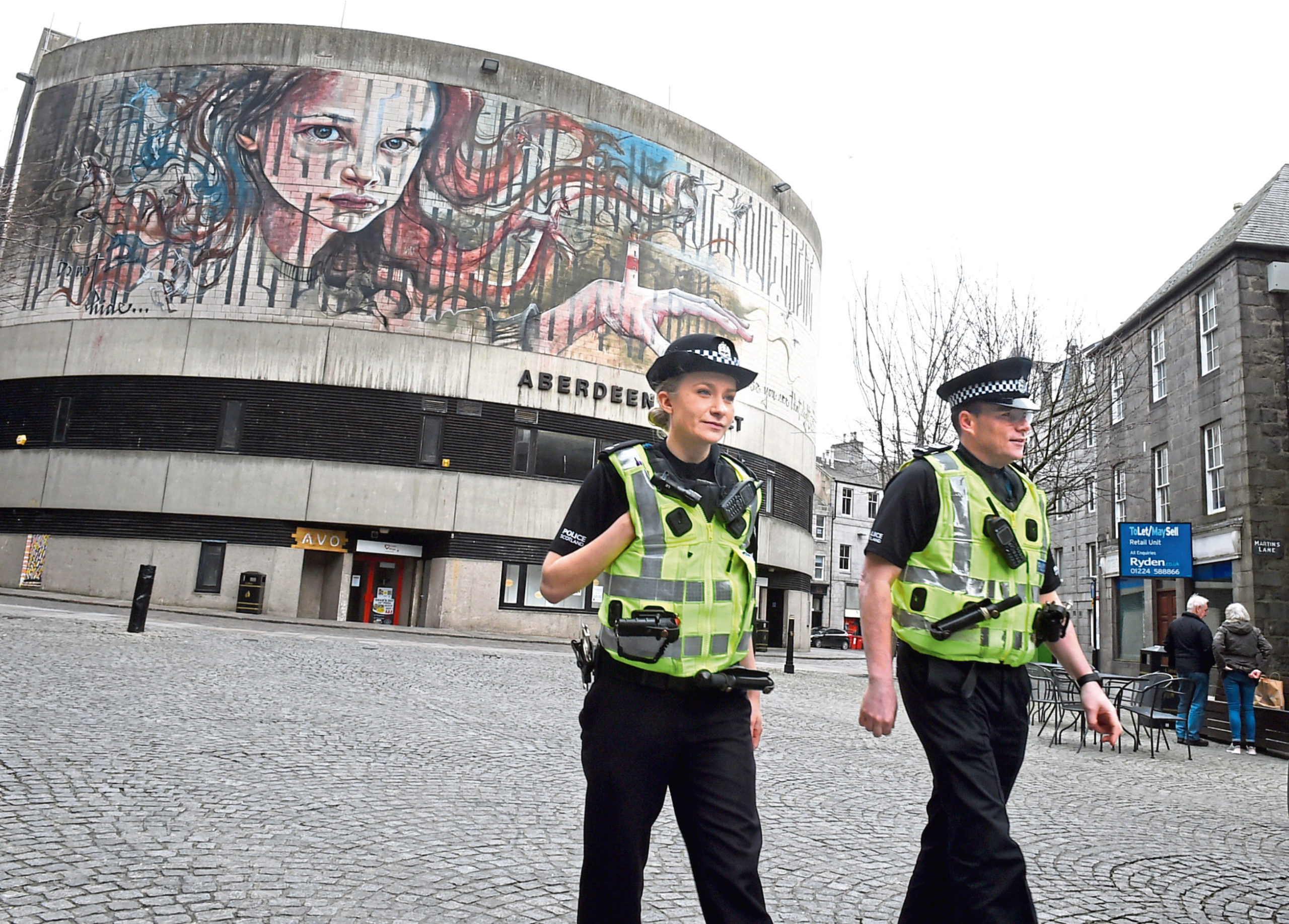Officers are maintaining a highly visible presence in Aberdeen