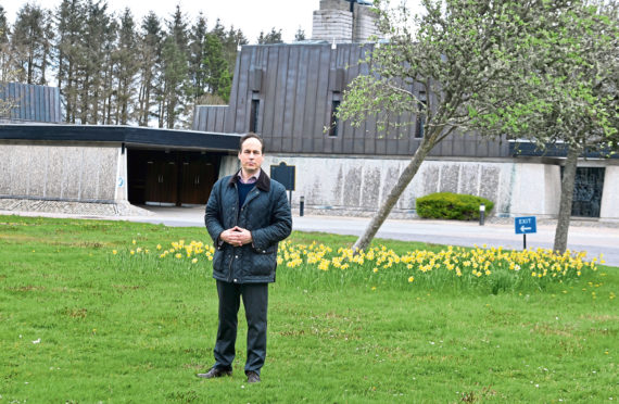 Councillor Martin Greig was left angry and sad after motorcyclists rode through the grounds of Hazlehead Crematorium