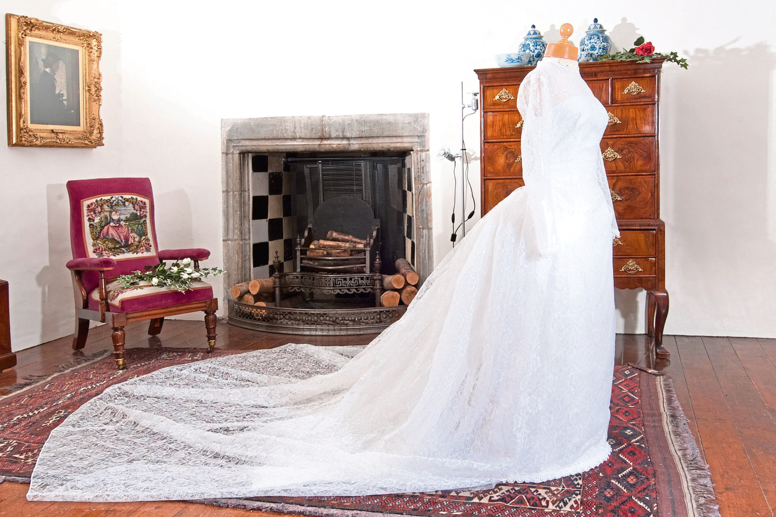White wedding dress, 1963