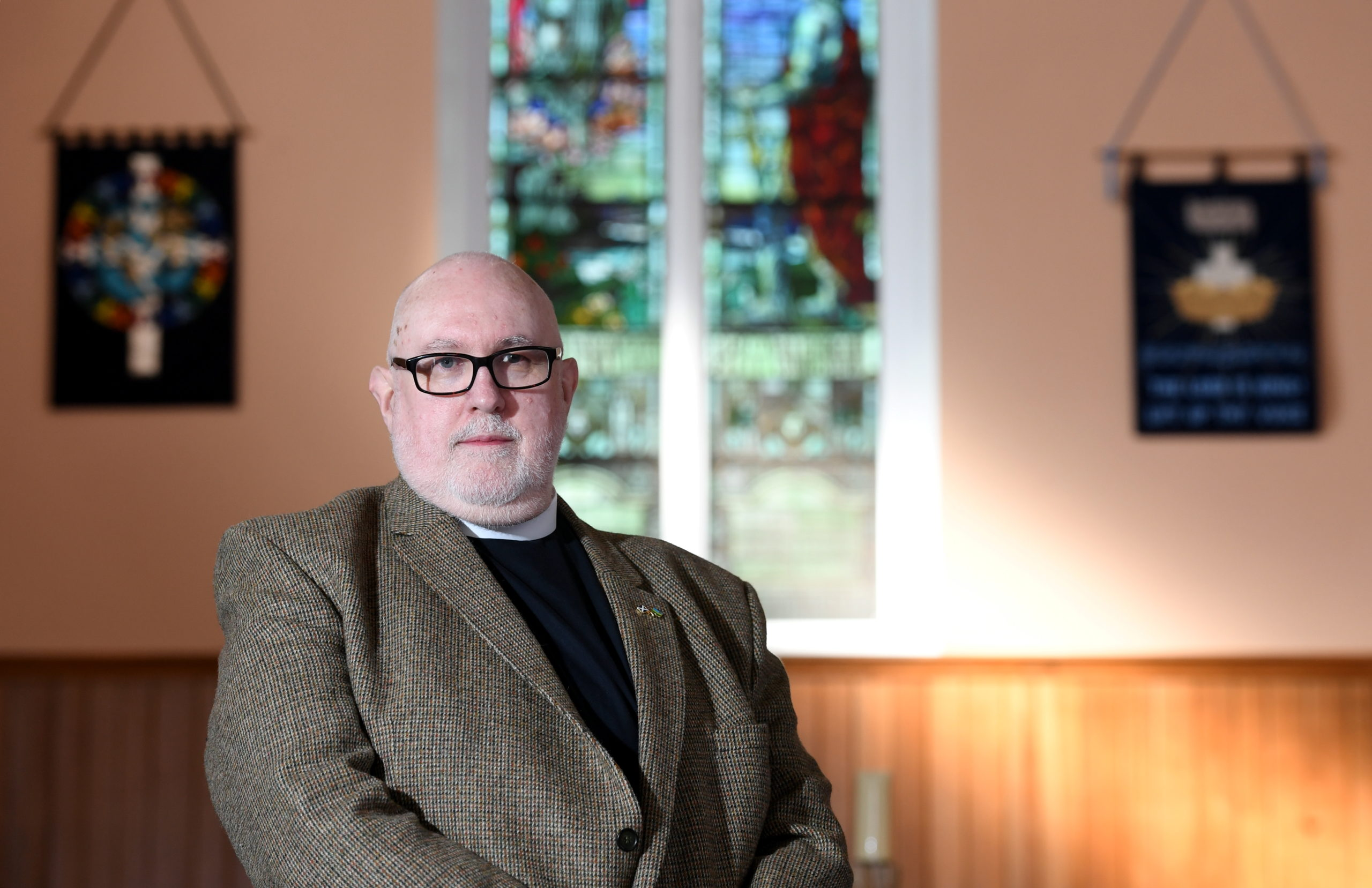 Rev Hutton Steel, the new moderator of the presbytery of Aberdeen and Shetland
