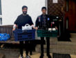 Asad and Saif Ahmed with deliveries