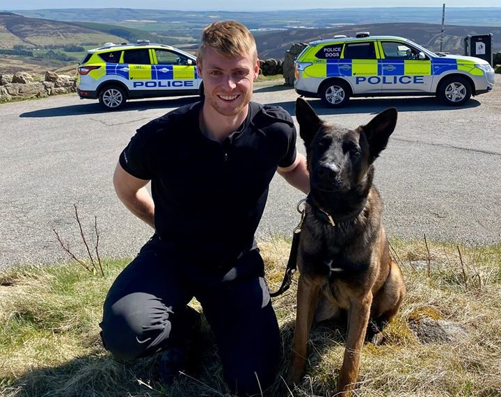 Police dog Zeus is the newest recruit to the force