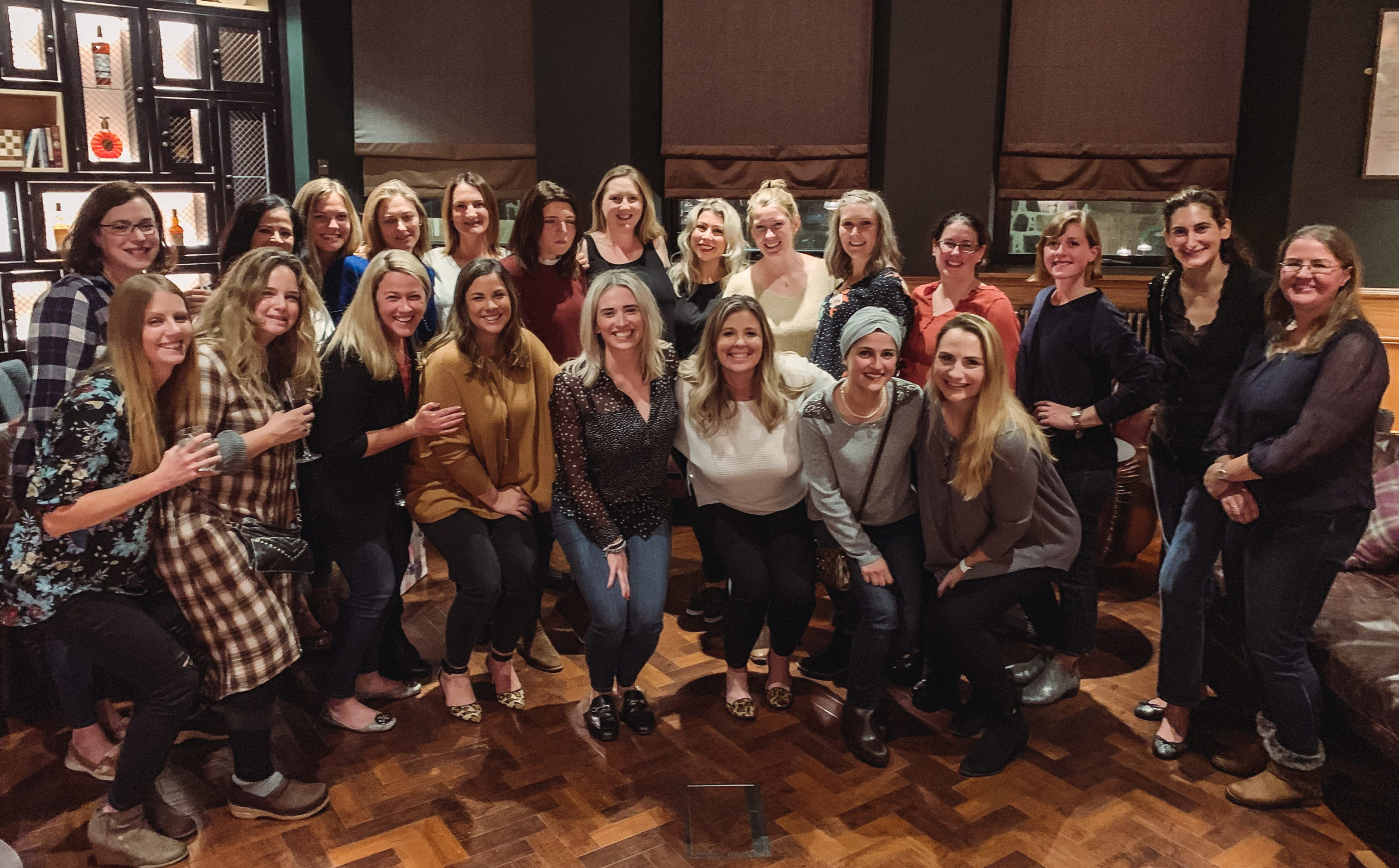 Hugh spirits among the Association of American Women of Aberdeen as they raised funds for charity