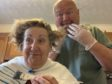 Charlie dyes his wife Janice's hair