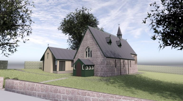 How the new hall could look when it is completed