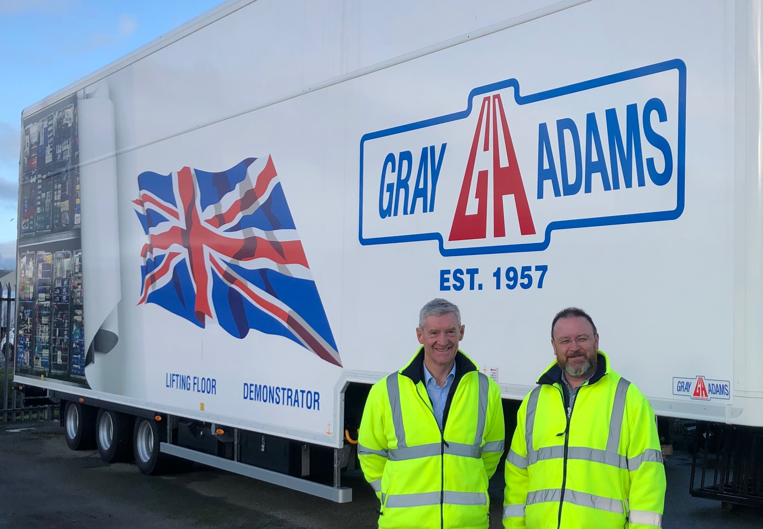 David Duguid MP with Peter Chapman MSP on a recent visit to Gray and Adams in Fraserburgh