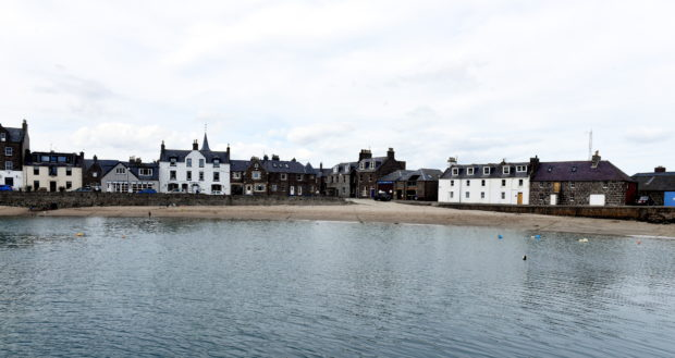Stonehaven's beach was empty today