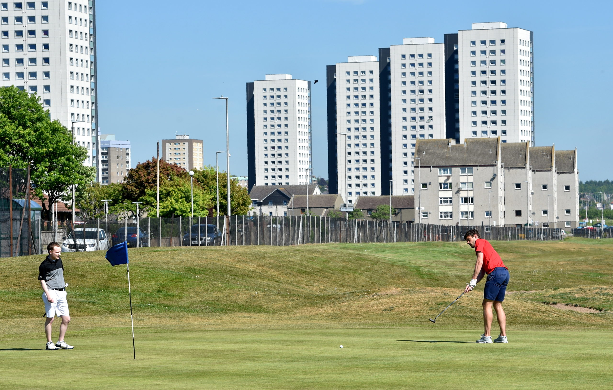 Golfers returned to courses in Aberdeen three weeks ago.