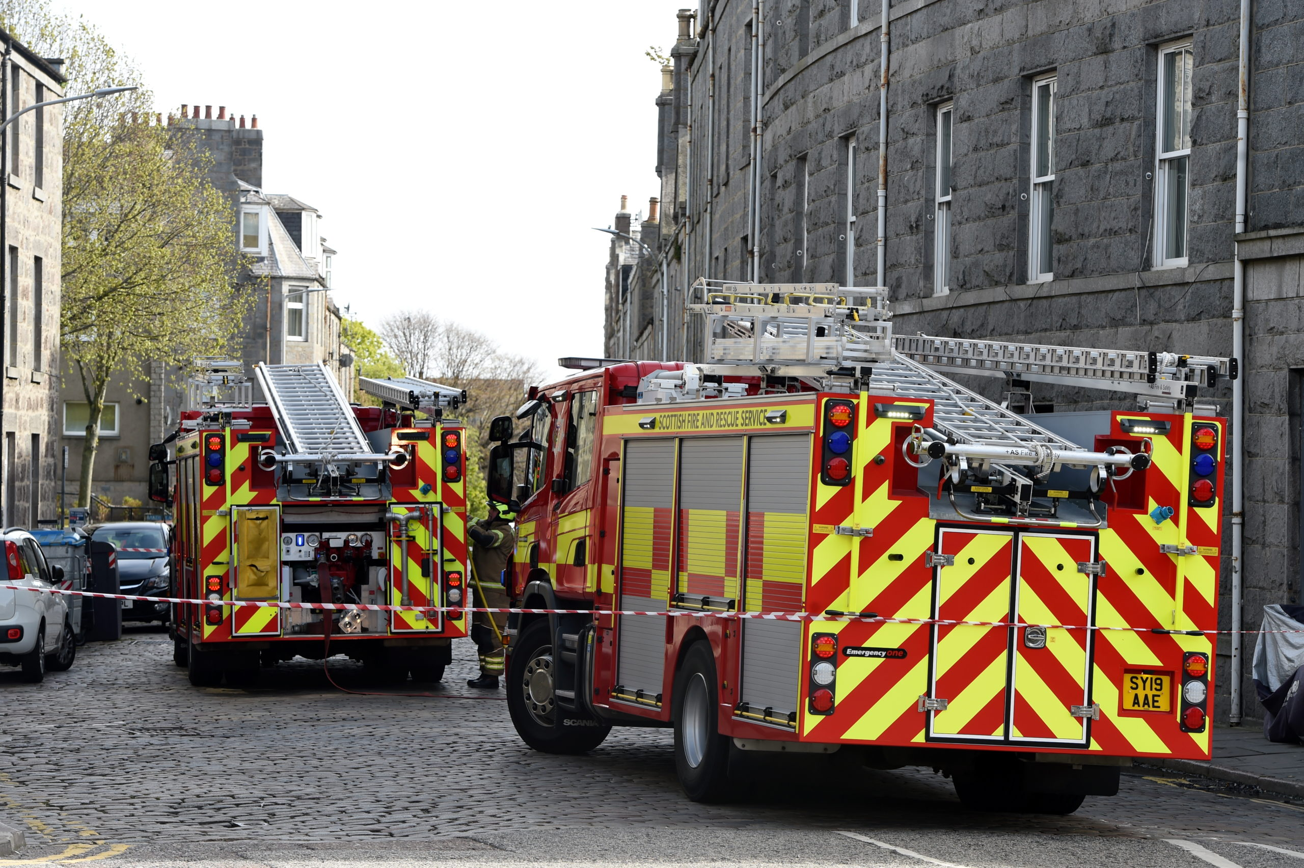 Fire crews on the scene at Baker Street. Picture by Kenny Elrick