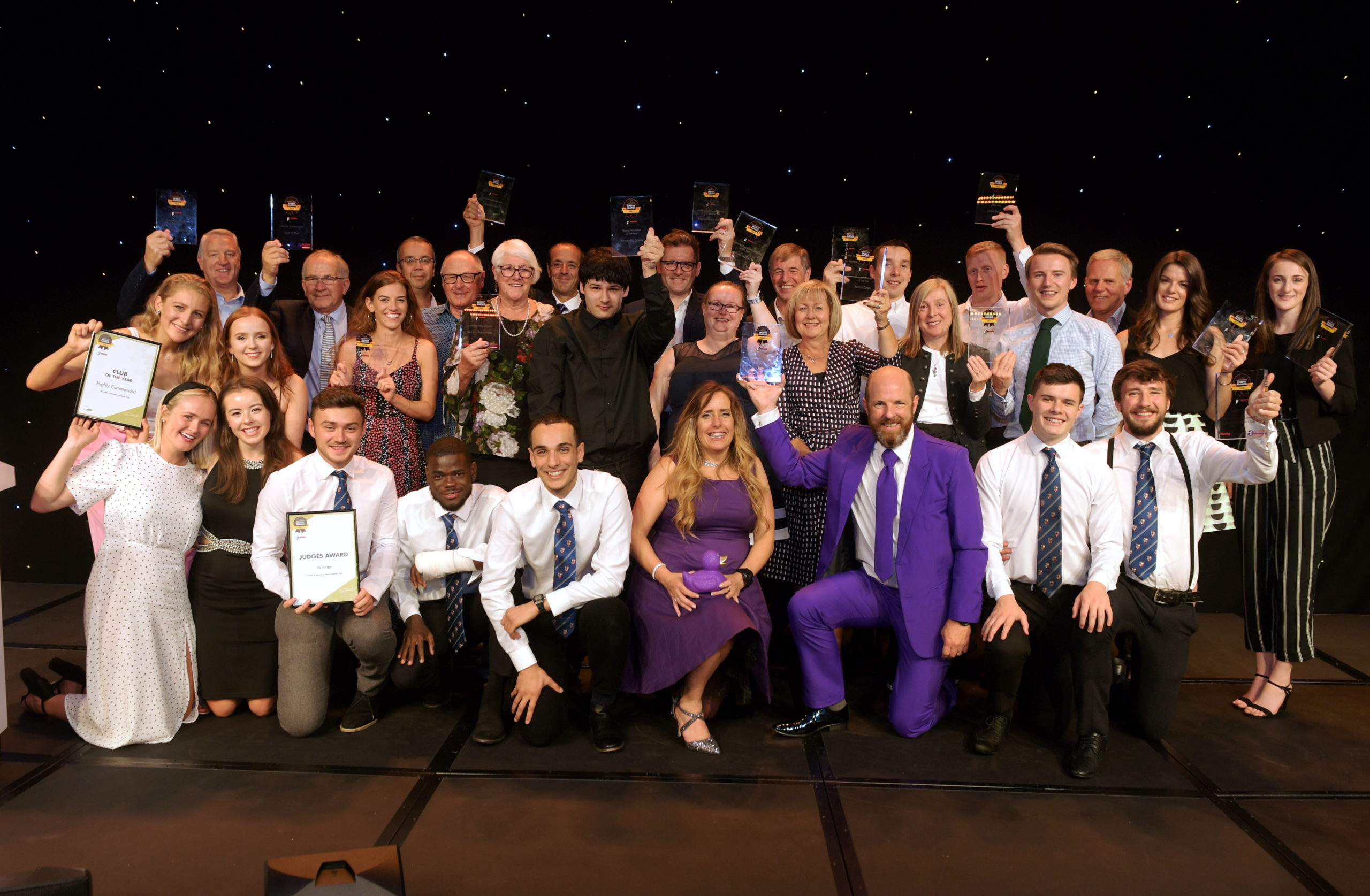 Some of the winners from last year's awards ceremony.  Picture by Kath Flannery