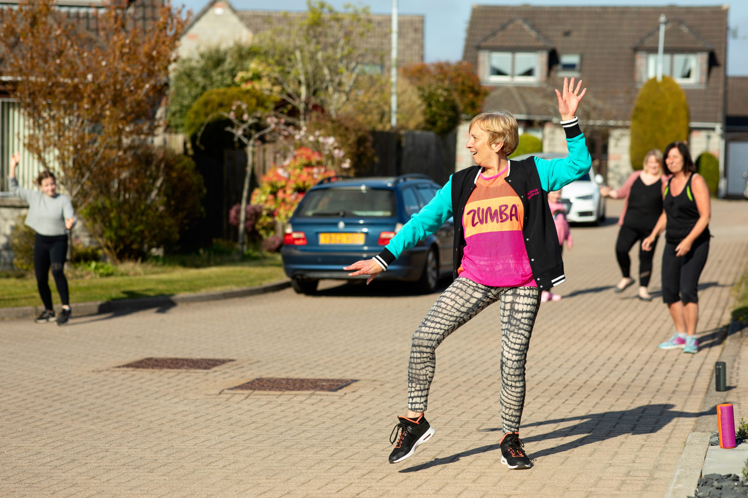 Zumba instructor Gillian Low has taken her classes to the streets of Kingswells