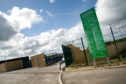 The recycling centre in Ellon
