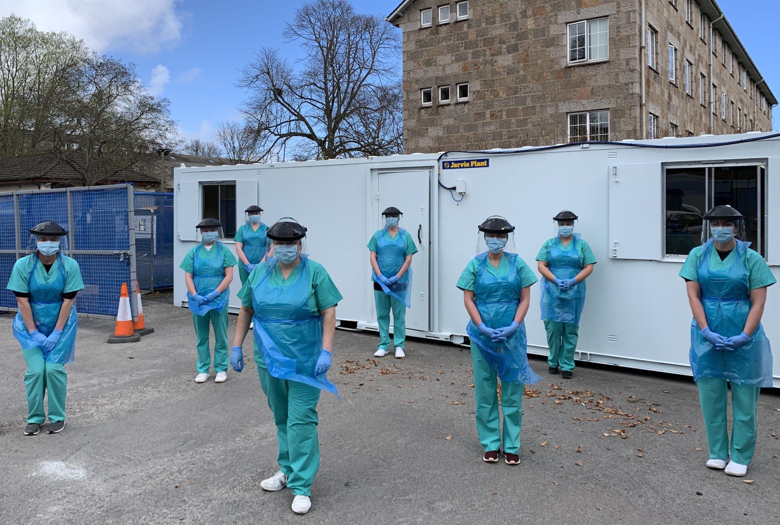 Nursing staff at a north-east testing facility