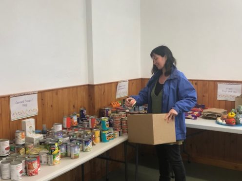 The Benholm and Johnshaven community council received funding for its larder