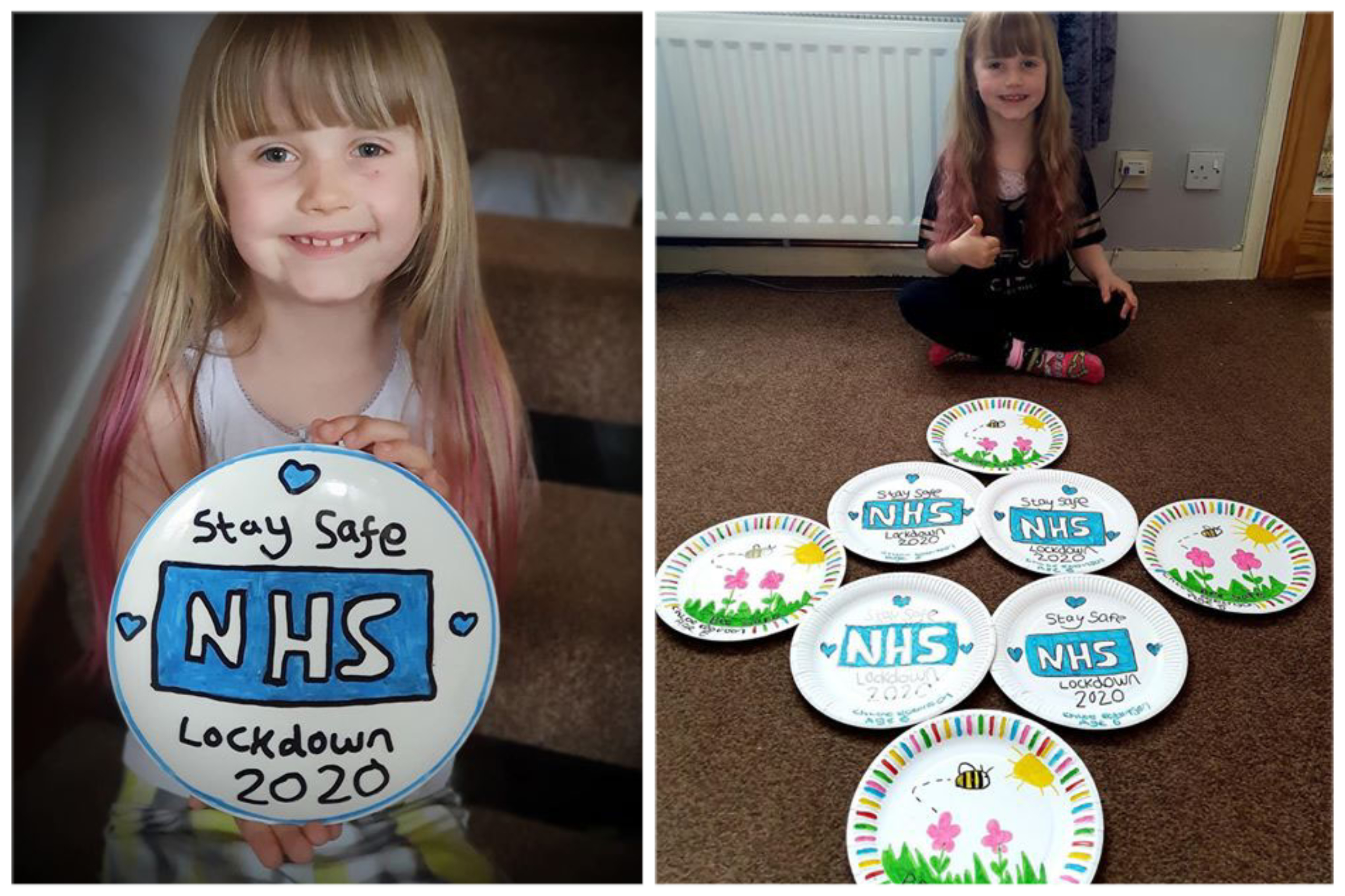 Chloe Robinson is creating colourful plates to raise funds for the NHS.