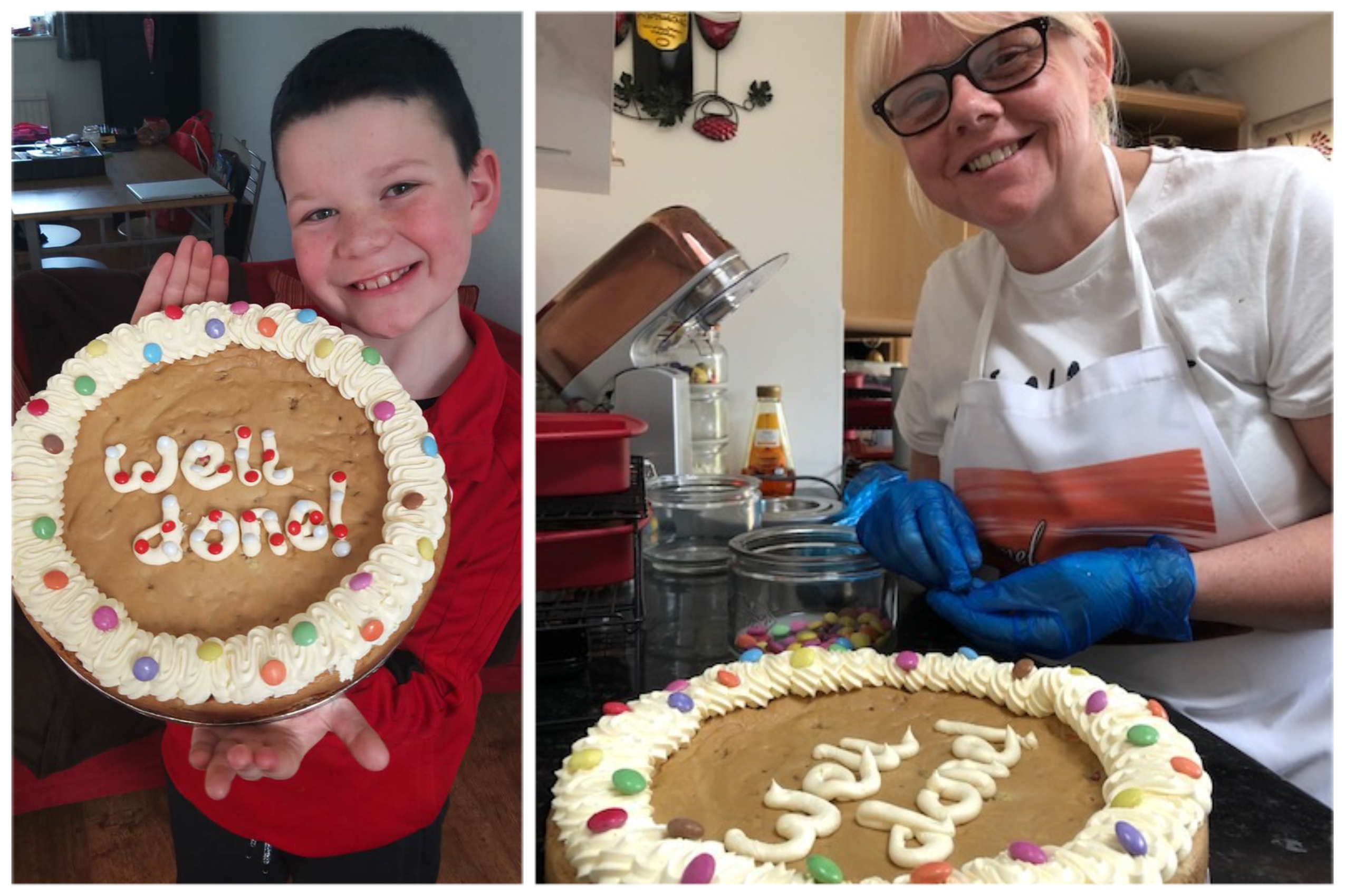 Liam left, and Karen baking his prize