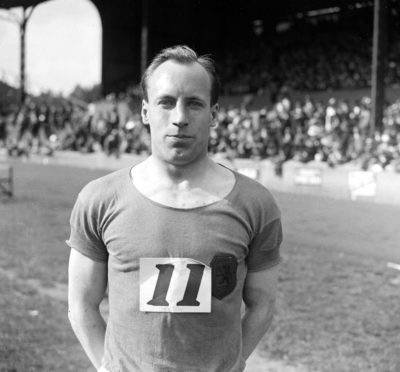 "Eric Liddell, the Scottish missionary who won the Gold in the 400 metres at the 1924 Olympic Games in Paris. His story was made famous by the film, ""Chariots of Fire"". After quitting athletics he became a christian missionary in China, until captured by the Japanese. He died in a prisoner of war camp in 1945."