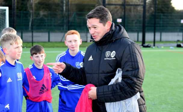 Derek Young also coaches at the Scottish FA's Performance School at Hazlehead.