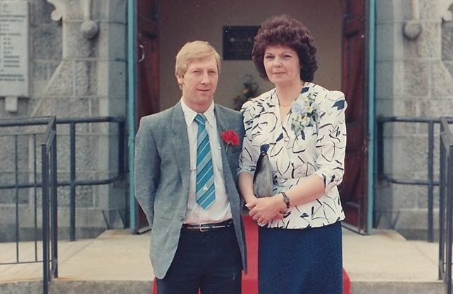 Roy with his ex partner Marie Shaw, who spend the last two months of his life looking after him