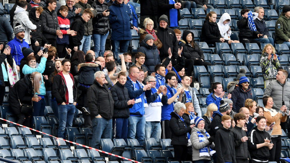 The Peterhead travelling support.