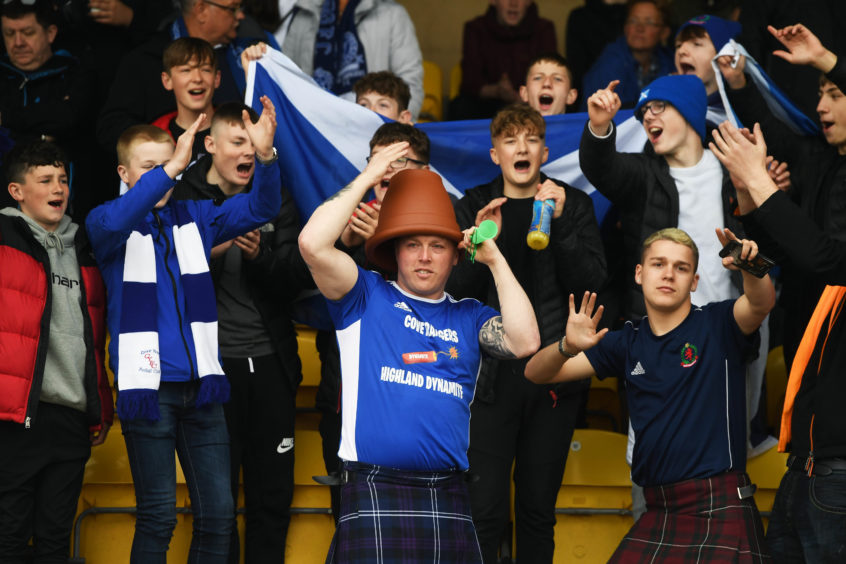 The Cove Rangers fans were in buoyant spirits.