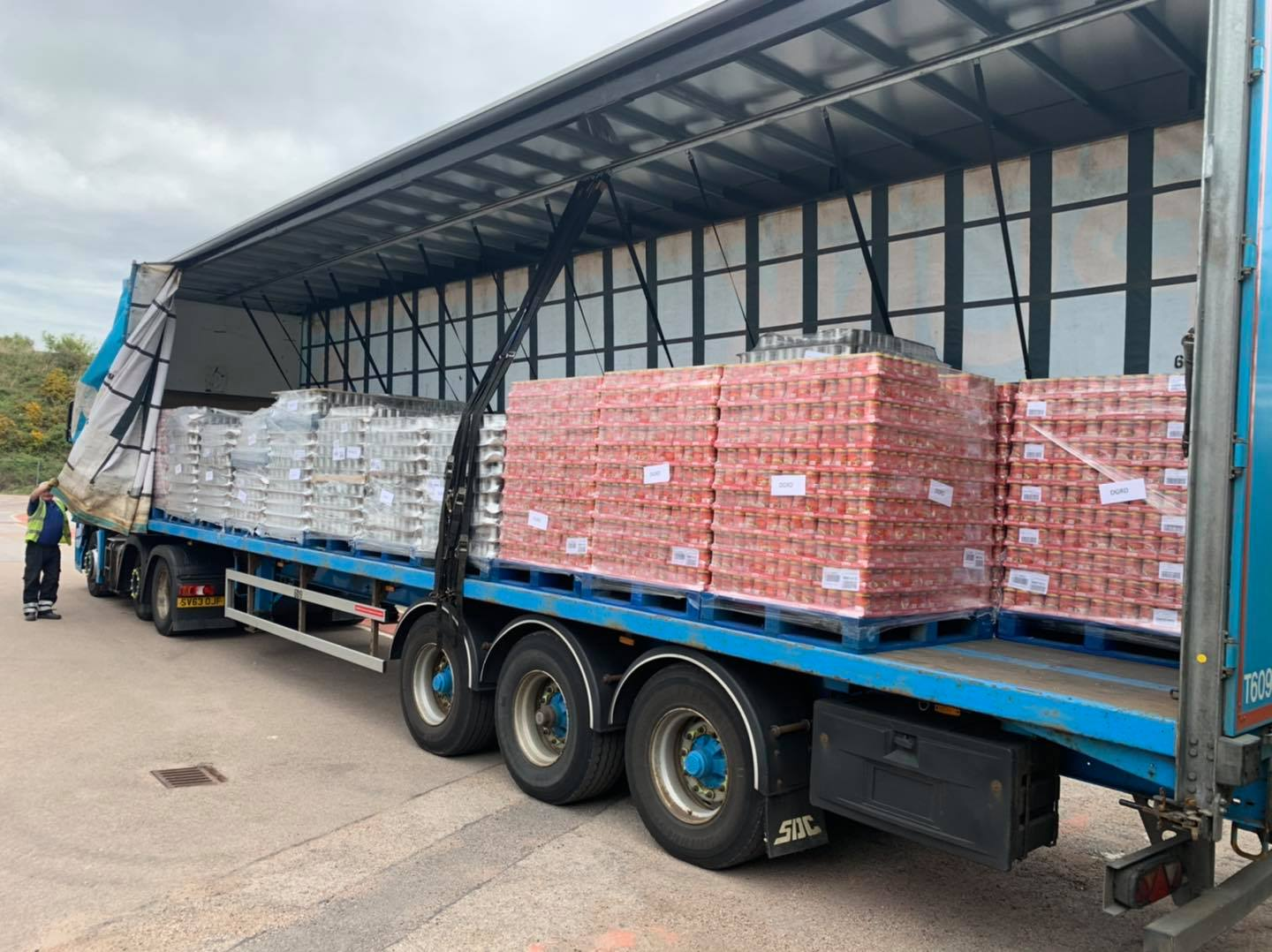 Somebody Cares received a delivery of 26 pallets of soup from Baxters