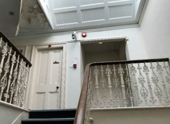 The inside of the property on Union Street, Aberdeen