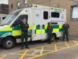 Ambulance workers John Haldane, Laura Stephen and Scott Burnett
