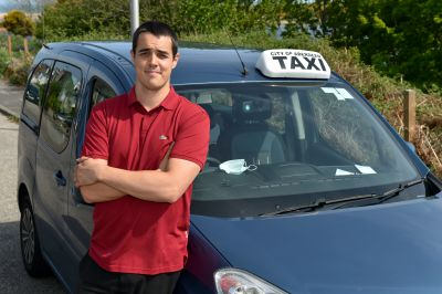 Chris Sedgewick is a taxi driver volunteering during the lockdown to transport Bon Accord care staff.
